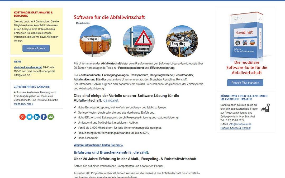 Homepage von zwei R software aus Erftstadt-Liblar online