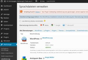 Wordpress-Übersetzung mit Codestyling Localization