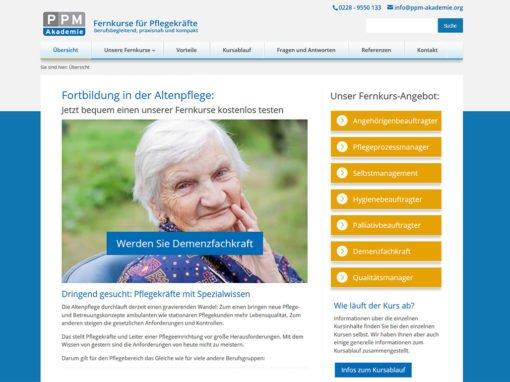 Fernkurse für Pflegekräfte, PPM PRO PflegeManagement Verlag & Akademie, Bonn